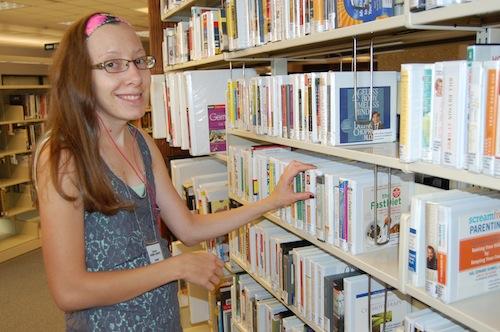bookshelving on first floor