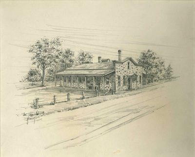 Baum drawing of cheese factory