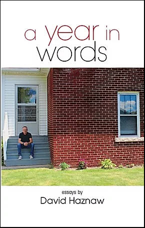 "Cover of book ""A Year In Words"" by David Haznaw"