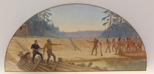 Cameron pioneer mural