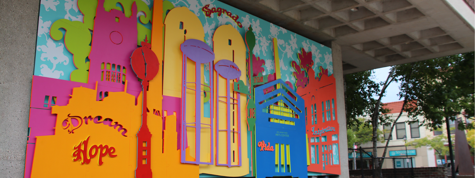 threading a dream mural